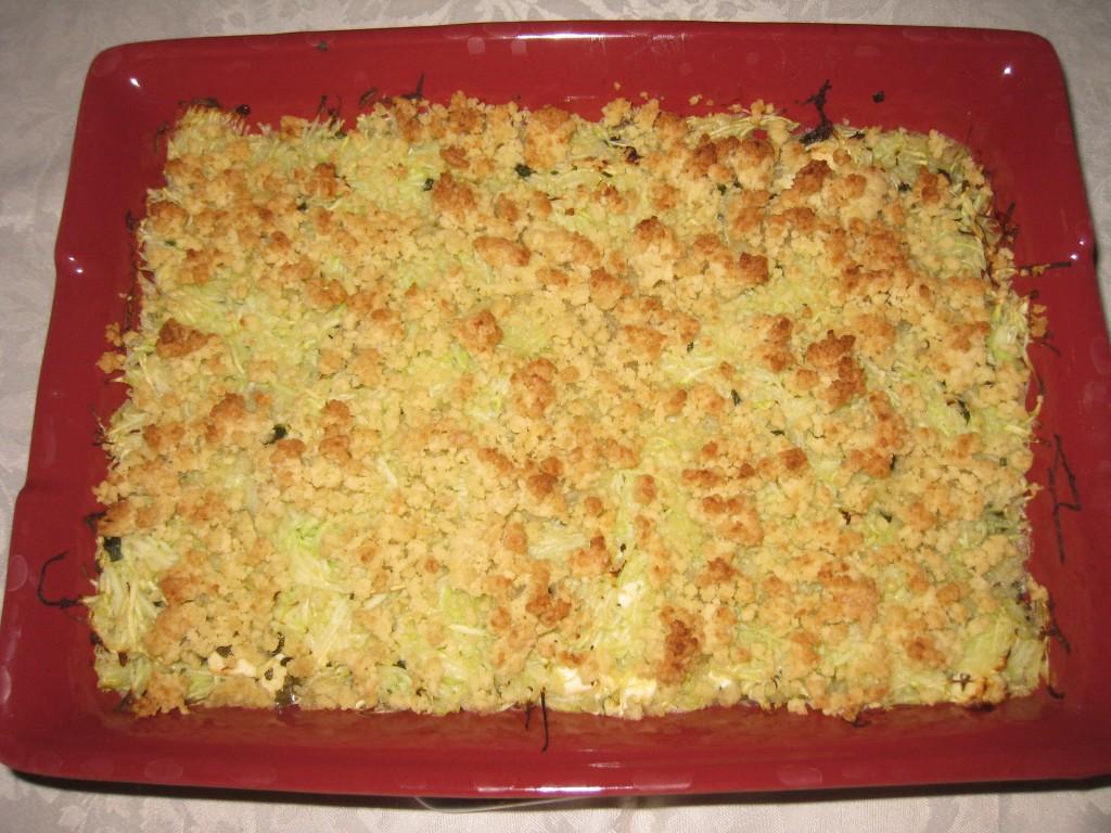 les petits plats de mimimarie 187 crumble sans beurre courgettes feta