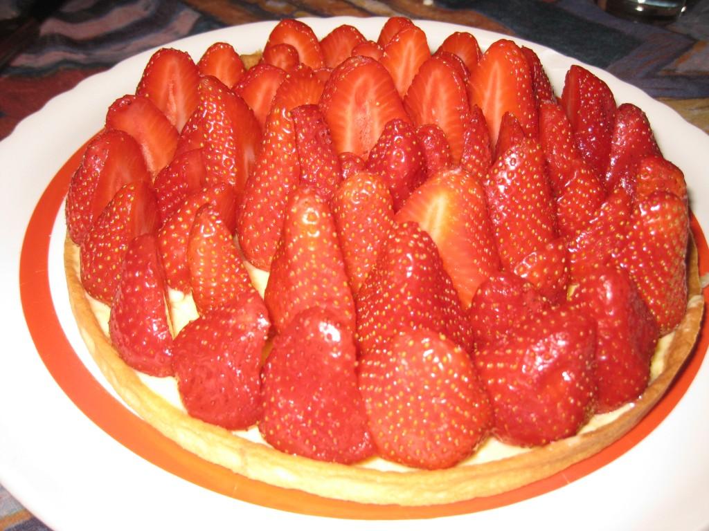 les petits plats de mimimarie 187 tarte aux fraises
